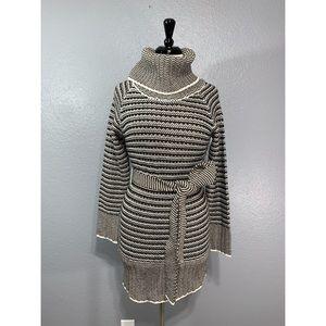 O N E C L O T H I N G | Striped Cowl Sweater Dress